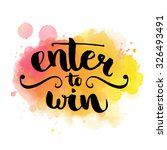enter to win. giveaway banner... | Shutterstock .eps vector #326493491