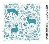 christmas deers line symbol | Shutterstock .eps vector #326494805