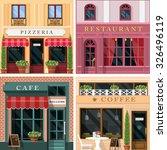 set of vector detailed flat... | Shutterstock .eps vector #326496119