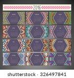 calendar 2016. vintage... | Shutterstock .eps vector #326497841
