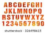 fire font set. flame alphabet | Shutterstock . vector #326498615