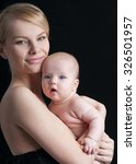 young mother with a charming... | Shutterstock . vector #326501957