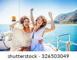 two beautiful girls enjoying a... | Shutterstock . vector #326503049