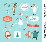 set of christmas and new year... | Shutterstock .eps vector #326504159