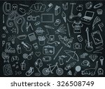 teen pattern on the chalkboard... | Shutterstock .eps vector #326508749