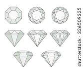 set of isolated gem stones...   Shutterstock .eps vector #326509325
