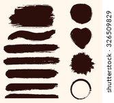 vector  grunge set of paint...   Shutterstock .eps vector #326509829