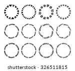 hand drawn vector wreaths... | Shutterstock .eps vector #326511815
