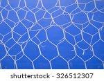 white goal net with blue... | Shutterstock . vector #326512307