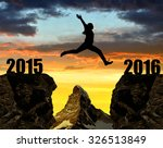 girl jumps to the new year 2016 ...