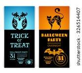 set of ornate halloween party... | Shutterstock .eps vector #326514407