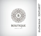 vector luxury vintage logo ...   Shutterstock .eps vector #326516837
