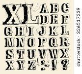 hand written vintage scribbled... | Shutterstock .eps vector #326517239