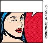 pop art vector illustration of... | Shutterstock .eps vector #326521271