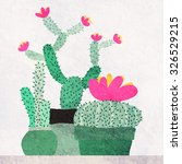 watercolor blooming succulents...