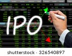 ipo wording. hand writing stock ... | Shutterstock . vector #326540897