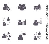 business people icons  | Shutterstock .eps vector #326544839