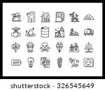 set of simple vector icons in... | Shutterstock .eps vector #326545649