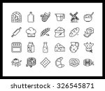 set of simple vector icons in... | Shutterstock .eps vector #326545871
