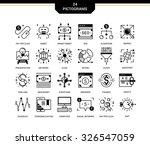 creative contemporary icon set... | Shutterstock .eps vector #326547059