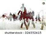 business people walking... | Shutterstock . vector #326552615