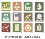 icon set  energy and industry | Shutterstock .eps vector #326564681