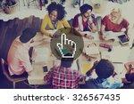 pointer selection cursor access ...   Shutterstock . vector #326567435