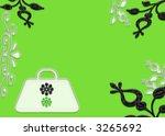 green fashion purse page design illustration - stock photo
