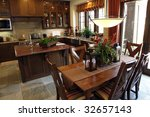 luxury home dining room and... | Shutterstock . vector #32657143