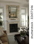 living room with a fireplace... | Shutterstock . vector #32657146