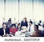 business people working... | Shutterstock . vector #326572919