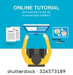 online learning vector ... | Shutterstock .eps vector #326573189