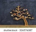 Concept Of Science. Bookshelf...