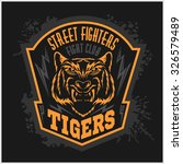 street fighters   fighting club ... | Shutterstock .eps vector #326579489