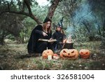 adult witch and small witch... | Shutterstock . vector #326581004