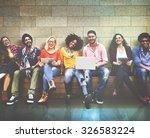 youth friends friendship... | Shutterstock . vector #326583224
