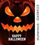 pumpkin for happy halloween  ... | Shutterstock .eps vector #326584115
