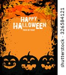 pumpkin for happy halloween  ... | Shutterstock .eps vector #326584121