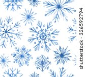 Watercolor Snowflakes Seamless...