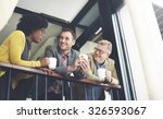 business team coffee break... | Shutterstock . vector #326593067