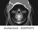 the death skull | Shutterstock .eps vector #326595371