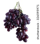 fresh ripe grapes  isolated on... | Shutterstock . vector #326595971