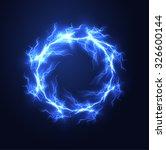 lightning vector round text... | Shutterstock .eps vector #326600144