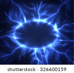 lightning vector round text... | Shutterstock .eps vector #326600159