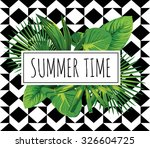 summer time slogan. tropical...   Shutterstock .eps vector #326604725
