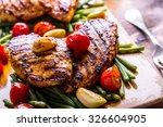 grilled chicken breast in... | Shutterstock . vector #326604905