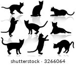 cats silhouette | Shutterstock . vector #3266064