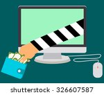 stealing money online. internet ... | Shutterstock .eps vector #326607587