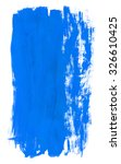 blue hand painted brush stroke... | Shutterstock . vector #326610425