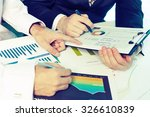 business people planning  a... | Shutterstock . vector #326610839